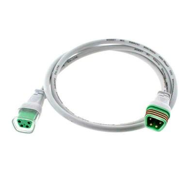 Cable extensión 4 Pinx0,5mm, 100cm, IP66, blanco