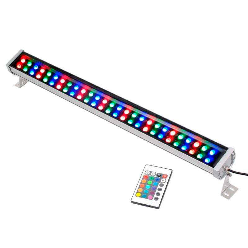 Proyector LED lineal doble, RGB-IR, 72W, 220V, 1m