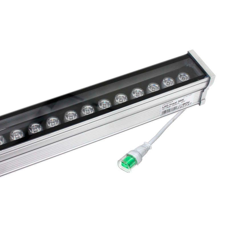 Proyector LED lineal, RGB DMX512, 36W, 220V, 1 metro