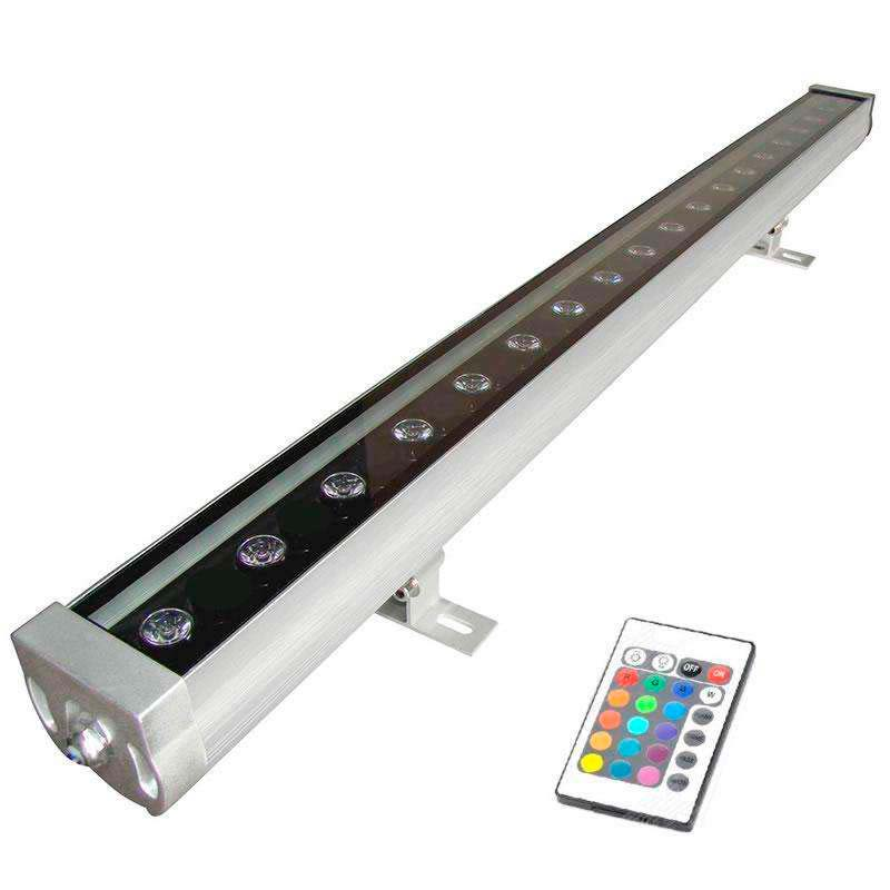 Proyector LED lineal, RGB TRILED-IR, 36W, 220V, 1m