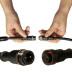 Cable conexión T, 2 Pinx1mm, 20cm, IP67, negro