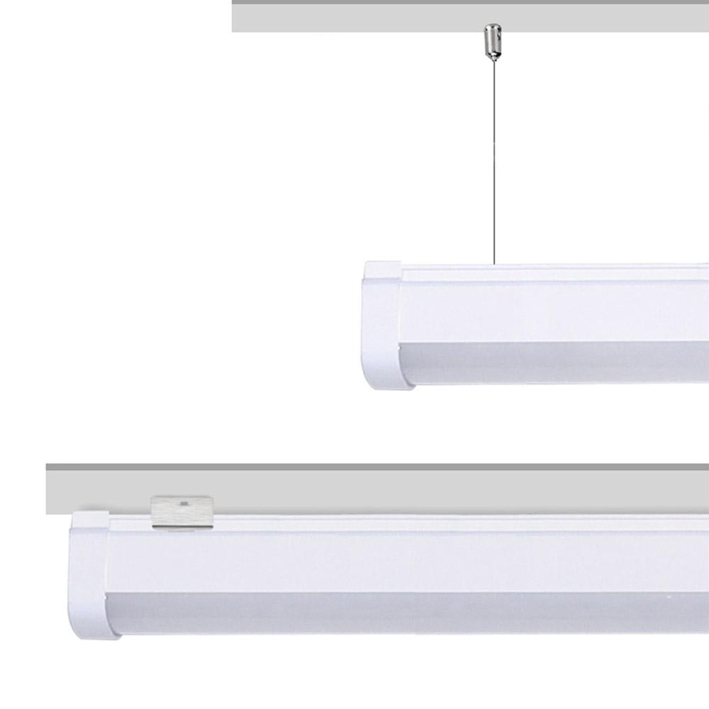 LED lineal, suspendido o superficie, 18W, RGB+CCT, RF, Alexa, SINC. 1m