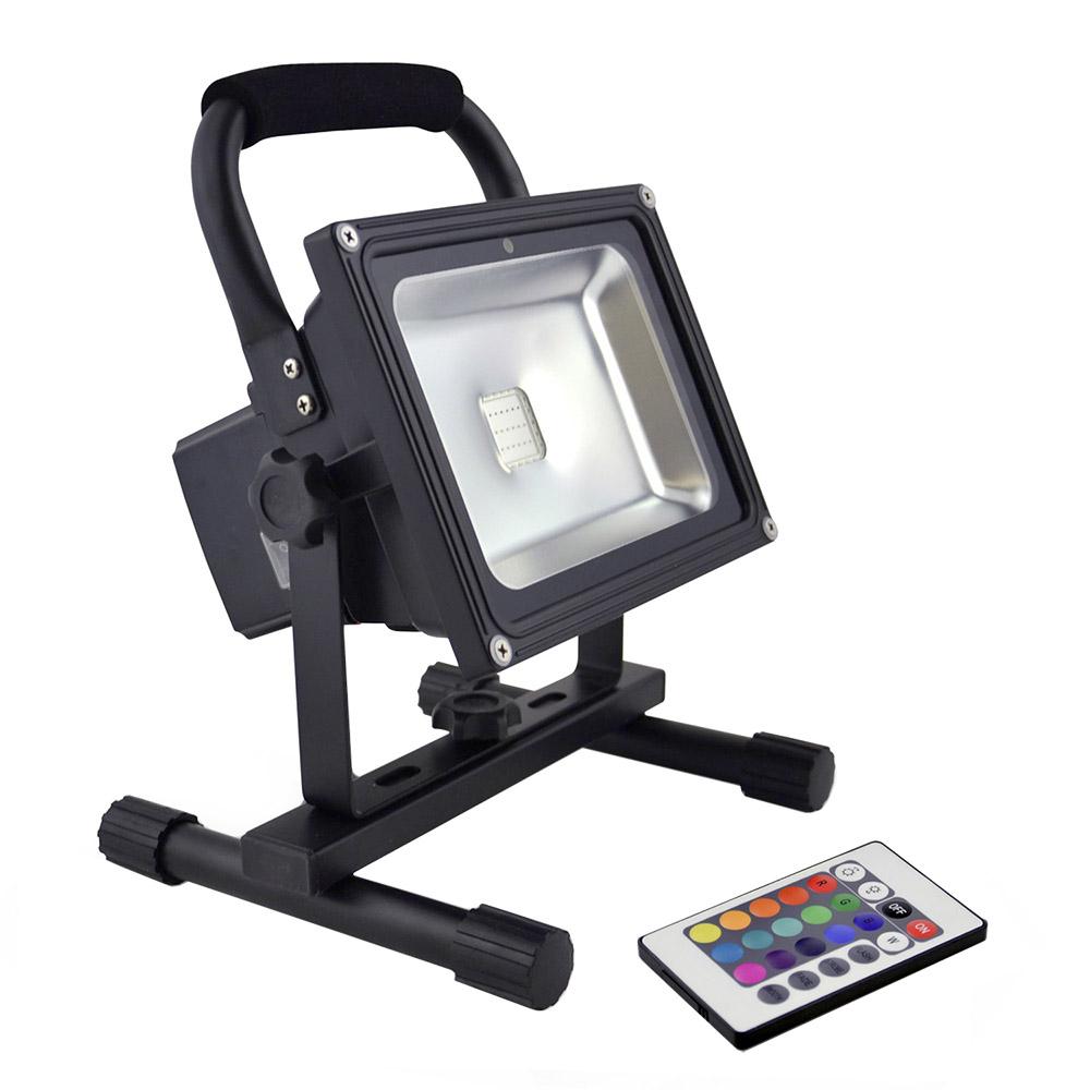 Proyector LED, 30W con batería recargable, RGB