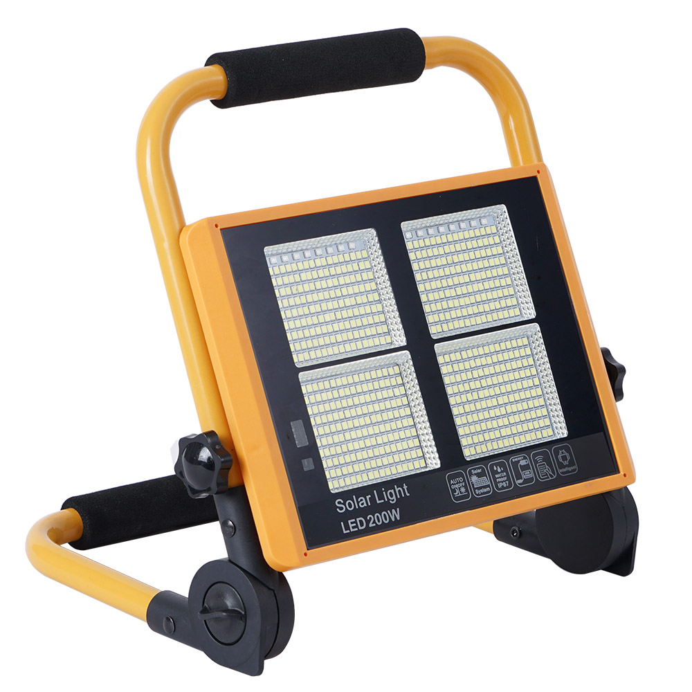 Proyector LED, 200W solar + emergencia + power bank