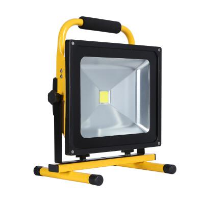 Proyector LED, 50W con batería recargable, Blanco neutro