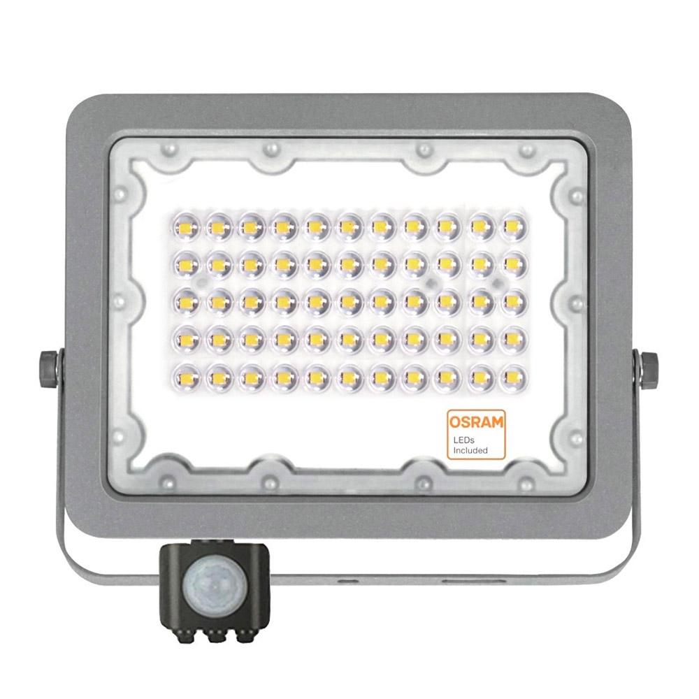 Proyector LED Chipled OSRAM, 50W con Sensor Movimiento y luminosidad PIR