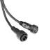 Cable extensión 2 Pinx0,5mm, 100cm, IP67, negro