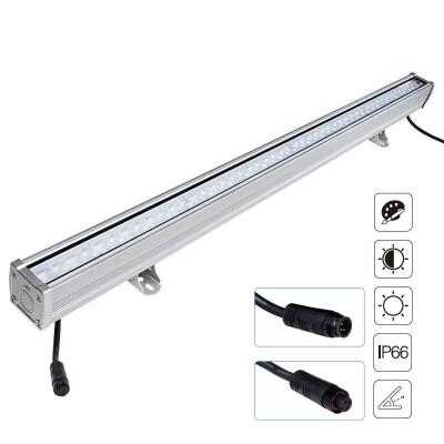 Foco lineal FOKUA LED 24W, RGB+CCT, SYS-T1, RGB + Blanco dual, Regulable