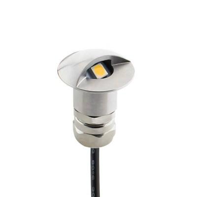 Foco POD LED 1W, IP67 Acero inox, Blanco cálido