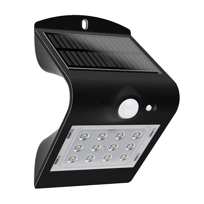 Aplique LED SOLAR PEEL, negro