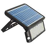 Projetor LED SOLAR PEEL 10W, preto com sensor de movimento e luminosidade
