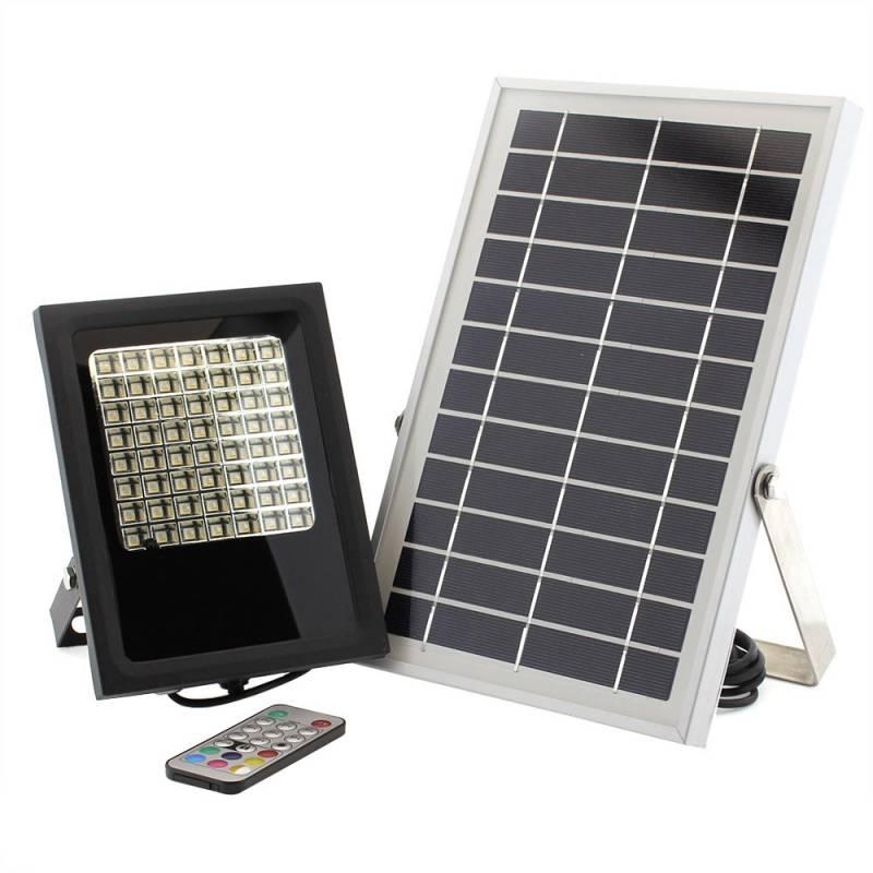 Proyector LED SOLAR 5W, RGB+W