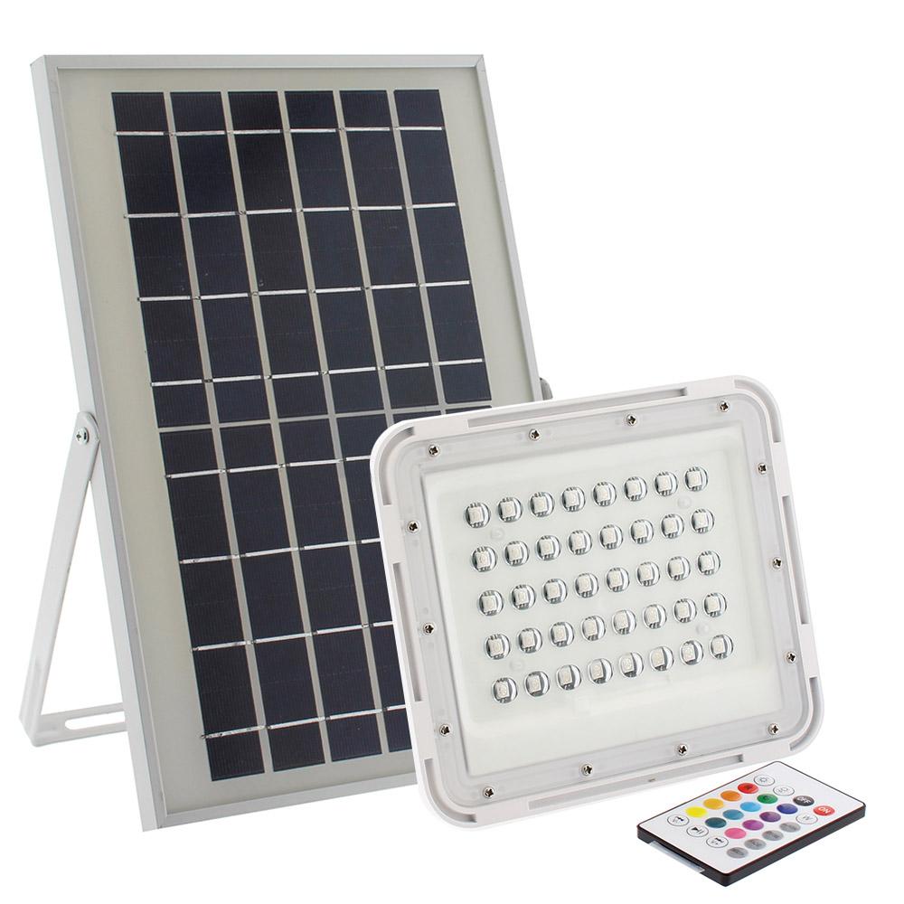 Proyector LED SOLAR 30W, RGB