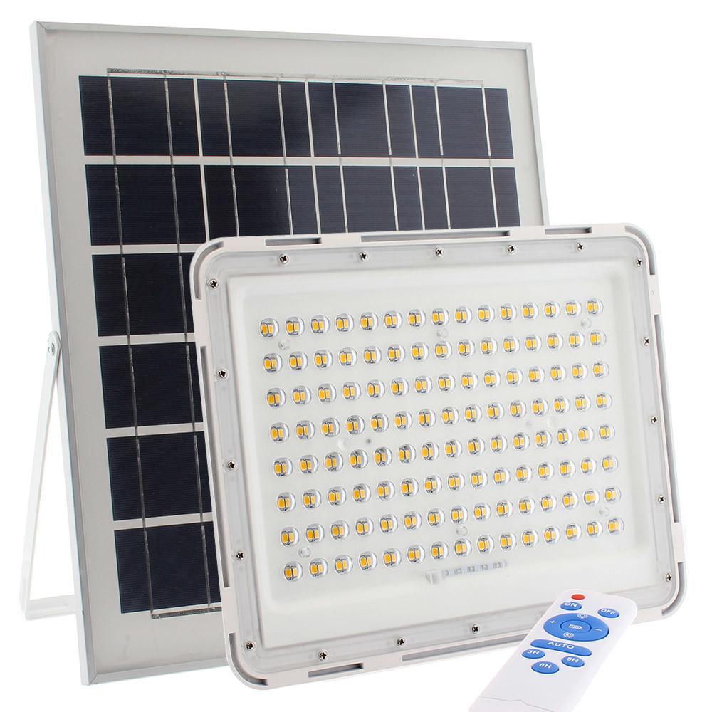Proyector LED SOLAR 150W, Blanco cálido, Regulable