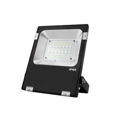 Proyector RGB+CCT Nichia Led, 20W, RF, RGB + Blanco dual, Regulable