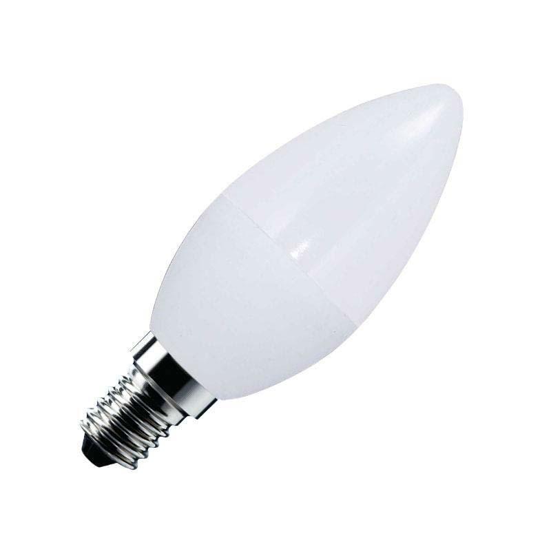 Bombilla LED Vela E14 frost 6W