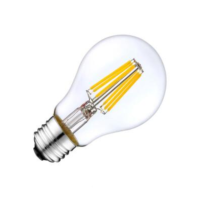 Bombilla LED E27 COB filamento 6W, Blanco cálido