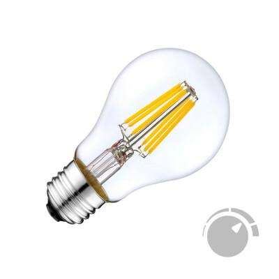 Bombilla LED E27 COB filamento 6W, Regulable, Blanco cálido 2700K, Regulable