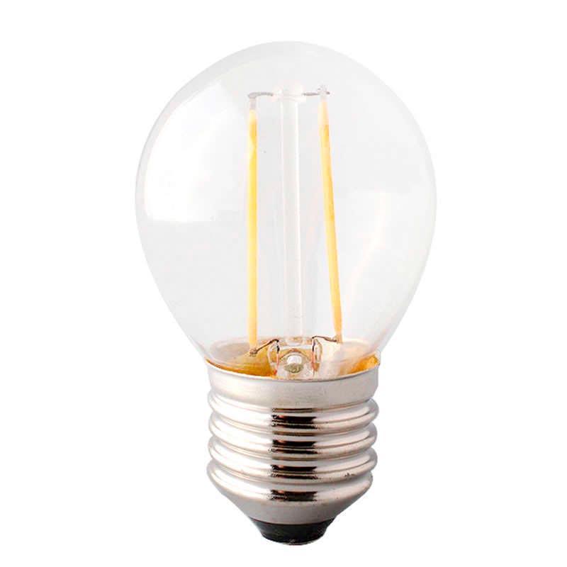 Bombilla led e27 cob filamento 2w ledbox - Bombilla led e27 ...