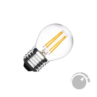 Bombilla Led E27 COB filamento 4W, Small Regulable, Blanco frío, Regulable