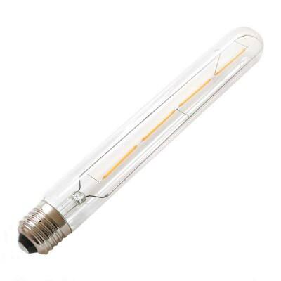 Bombilla Led E27 COB filamento 4W, Ø30x225mm, Blanco cálido