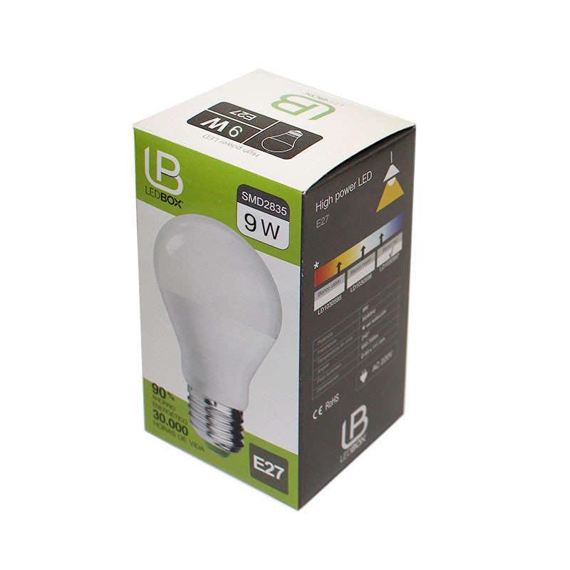 E27 led Bulb, 240º, 9W