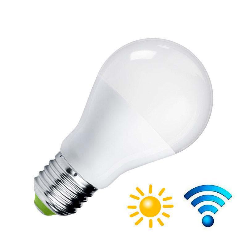 Lâmpada LED E27, 9W, Sensor movimento e luminosidade
