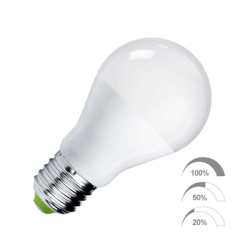Bombilla LED E27, 240º, 9W, Regulable 100-50-20%