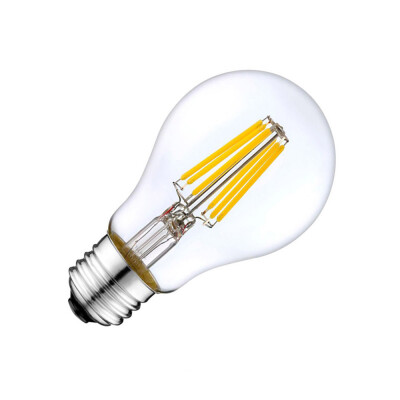 Bombilla LED E27 COB filamento 8W, Blanco cálido 2700K