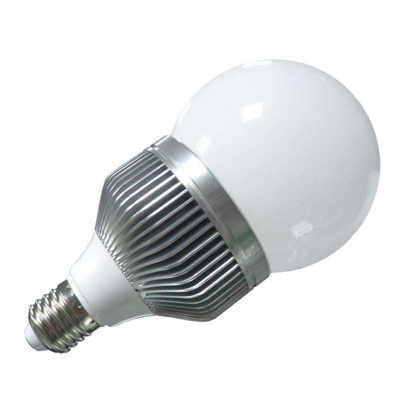 Bombilla LED E27 globe, Aluminio, 10W