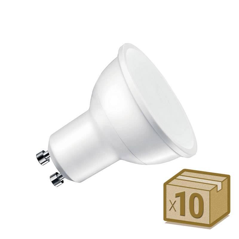 Pack 10 x Bombilla LED GU10, 100º, 6W