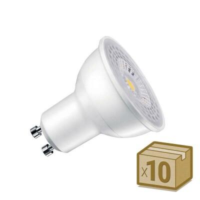 Pack 10 x Bombilla LED GU10, 100º, 7W, Blanco cálido