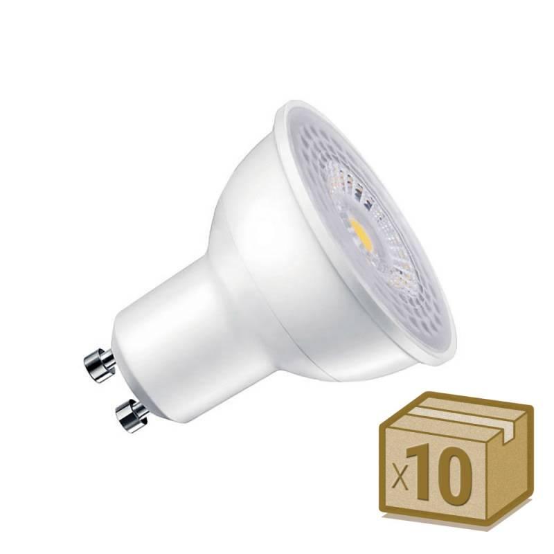 Pack 10 x Bombilla LED GU10, 100º, 7W