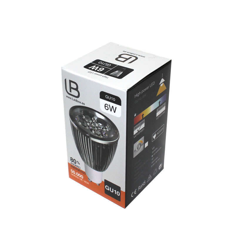 Bombilla LED GU10 6W,  high power