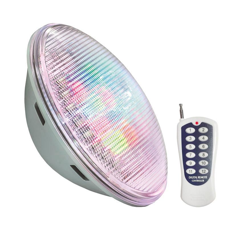 Lámpara LED PAR56 RGB para piscinas, G53, 45W, Int.