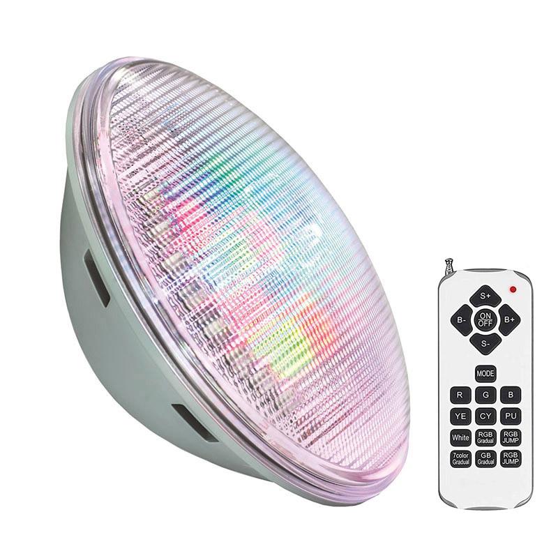 Lámpara LED PAR56 RGB para piscinas, G53, 45W, Acero Inox. Int.