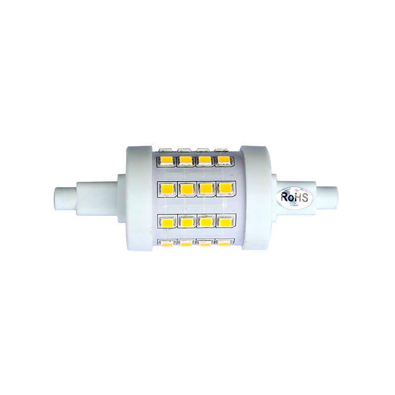 Bombilla LED R7S, 5W, 36xSMD2835, 360º, 78mm