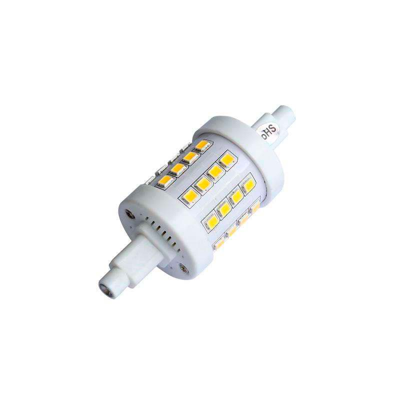 Bombilla LED R7S, 5W, 36xSMD2835, 360º, 78mm