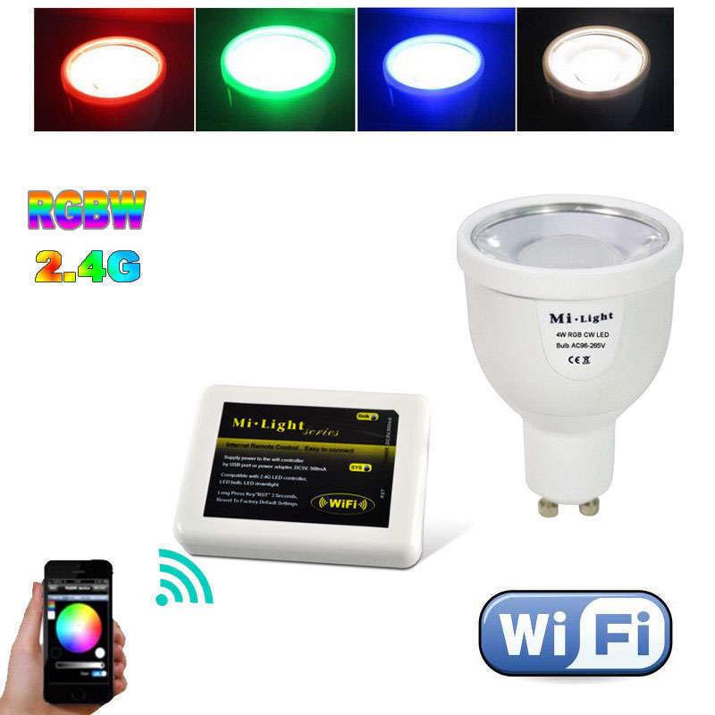 Bombilla led WiFi GU10 Bulb 4W RGB+Blanco cálido