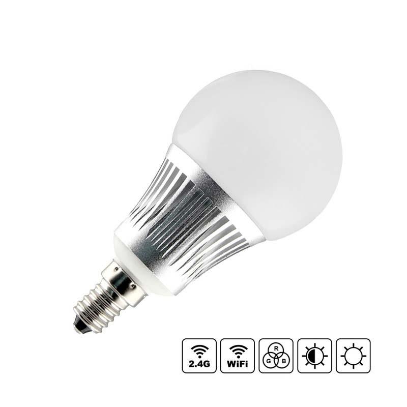 Lâmpada LED WiFi E14 Bulb 5W RGB+CCT