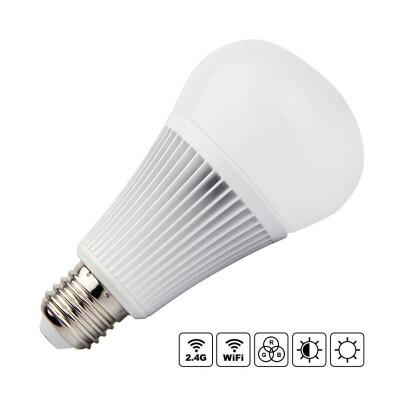 Bombilla LED WiFi E27 Bulb 9W RGB+CCT, RGB + Blanco dual, Regulable