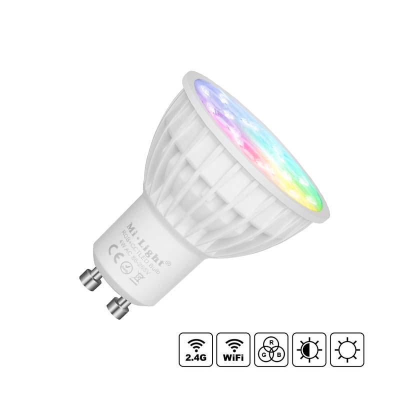 Lâmpada LED WiFi GU10 Bulb 4W RGB+CCT