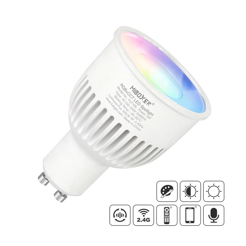 Lâmpada LED WiFi GU10 Bulb 6W RGB+CCT