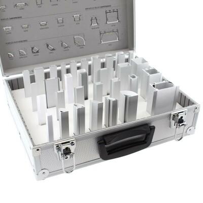 Maletín demo perfiles de aluminio KB01