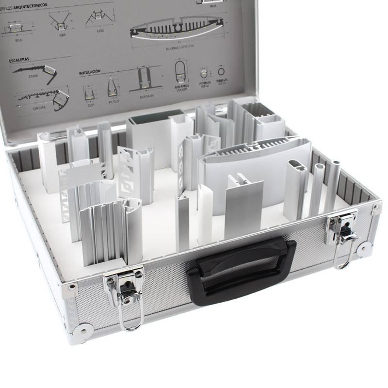 Maletín demo perfiles de aluminio KB03