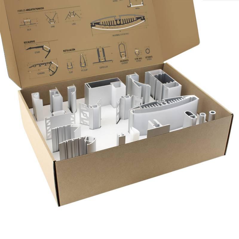 Muestrario perfiles de aluminio C03