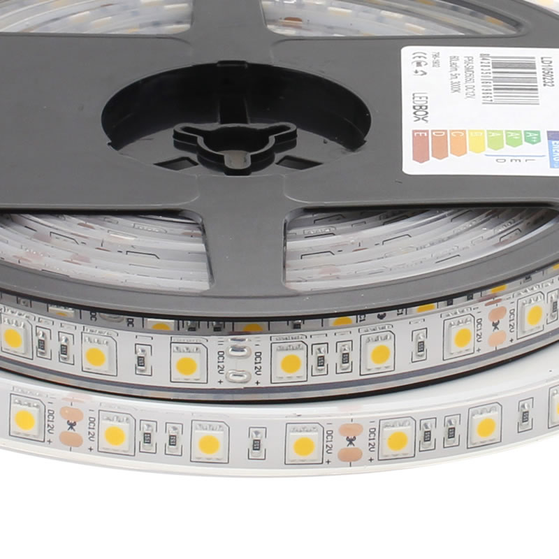 Tira LED HQ SMD5050, DC12V, 5m (60Led/m) - IP68
