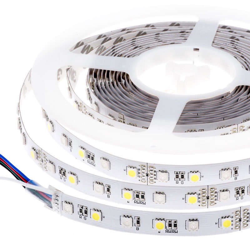 Tira LED EPISTAR SMD5050, RGB+NW, DC24V, 5m (60Led/m) - IP67