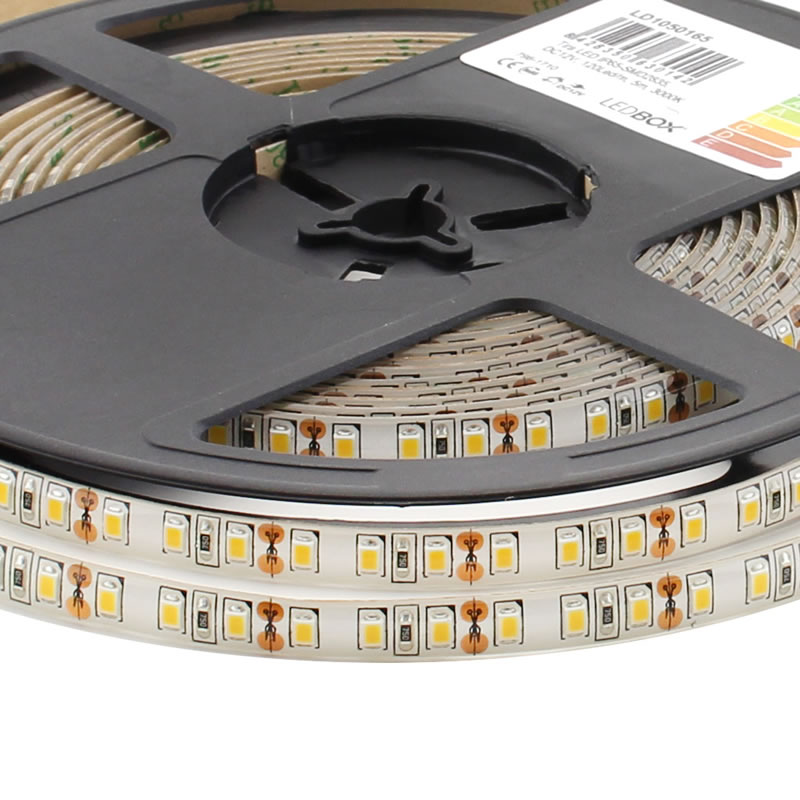 Tira LED EPISTAR SMD2835, DC12V, 5m (120Led/m) - IP65