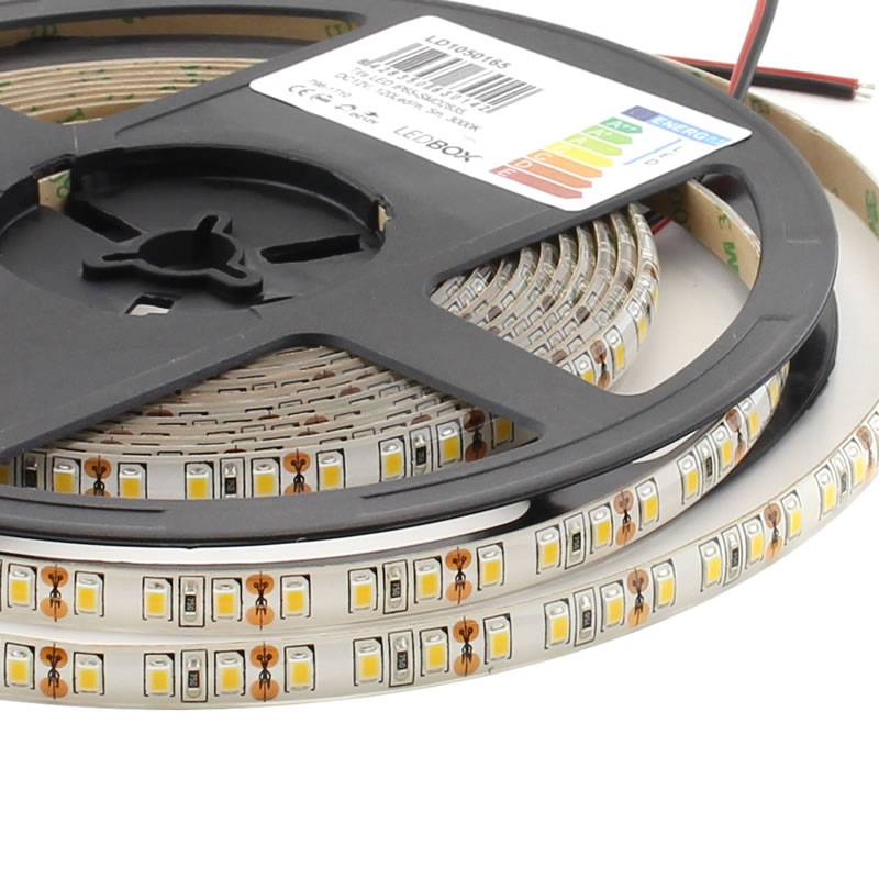Tira LED Monocolor SMD2835, ChipLed Epistar, DC12V, 5m (120Led/m) - IP65